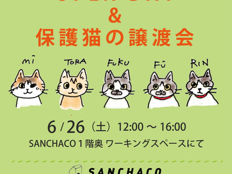 6/26(土)SANCHACOオープンハウス&譲渡会 開催