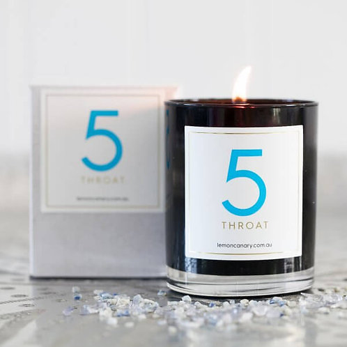 'RAINBOW ORGANIC' #5 CANDLE – TRUTH (BLUE)