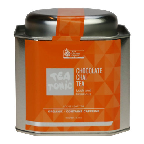 CHOCOLATE CHAI TEA LOOSE LEAF CADDY TIN