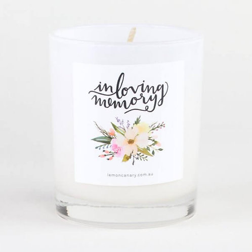 'IN LOVING MEMORY' SOY CANDLE – VINTAGE GARDENIA