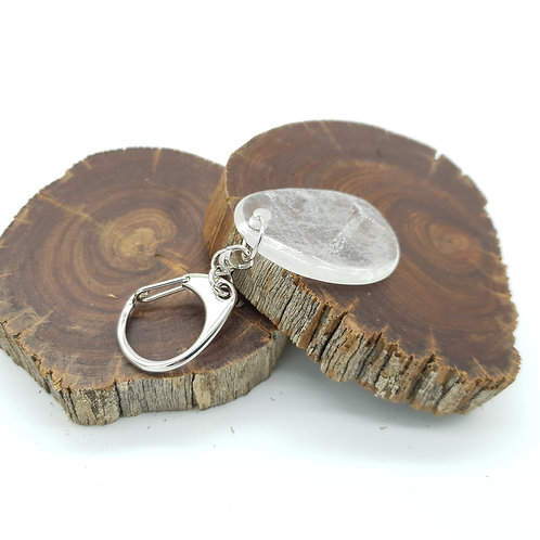 Zodiac Key Ring LEO/Clear Quartz