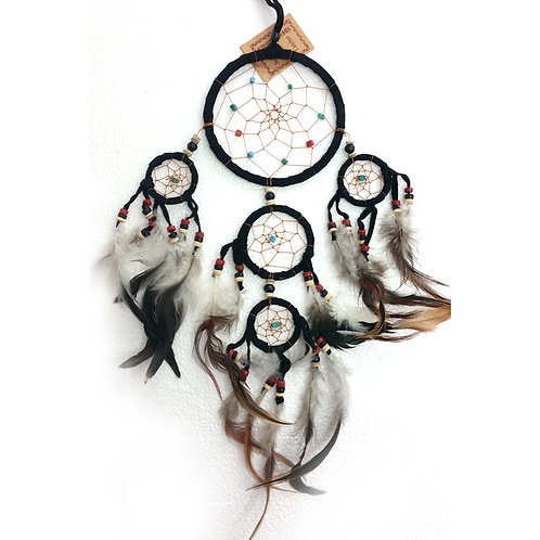 Dream Catcher LEATHER CRYSTALS BLACK Small