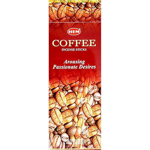 HEM Incense Hex COFFEE 20 stick BOX