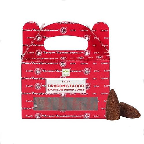 Satya Cones Backflow DRAGON'S BLOOD BOX