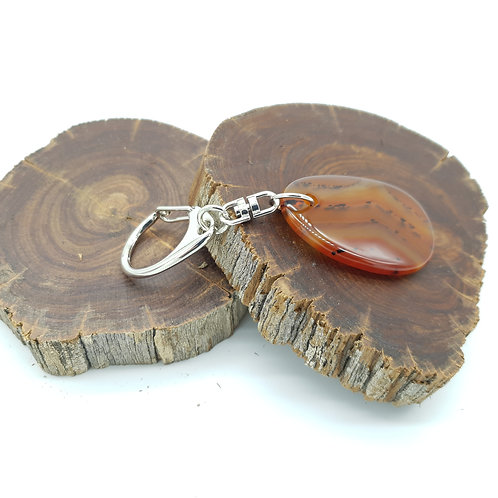 Zodiac Key Ring VIRGO/Carnelian