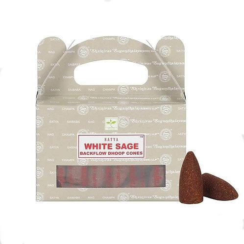 Satya Cones Backflow WHITE SAGE BOX