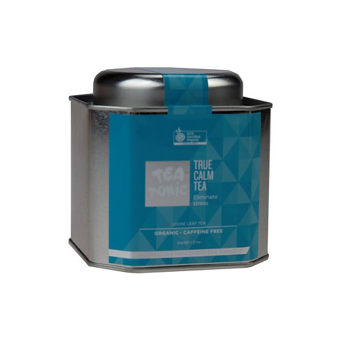 TRUE CALM TEA LOOSE LEAF CADDY TIN