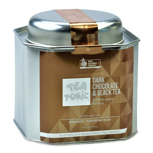 DARK CHOCOLATE & BLACK TEA LOOSE LEAF CADDY TIN