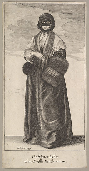 23.65.35 English Lady in Winter Costume