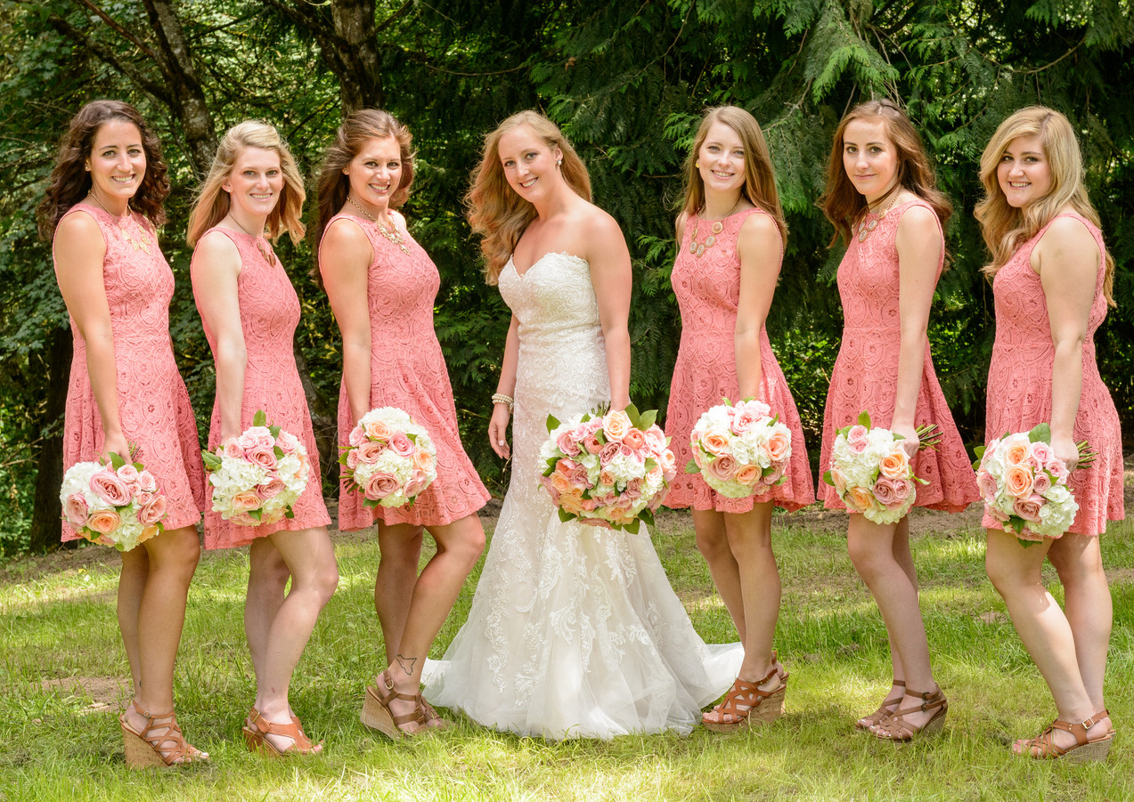 Lovely bridal party