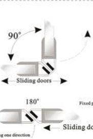 גומיות מגנט 90 מעלות למקלחוני פינה\חזית