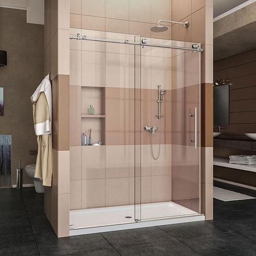 """מקלחון חזית (אופיר) 8 מ""""מ קבוע ודלת הזזה"""