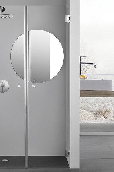 """מקלחון חזית (עילי)  8 מ""""מ קבוע ו 2 דלתות"""