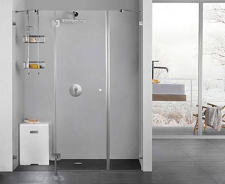"""מקלחון חזית (עדי)  8 מ""""מ 2 קבועים ודלת"""