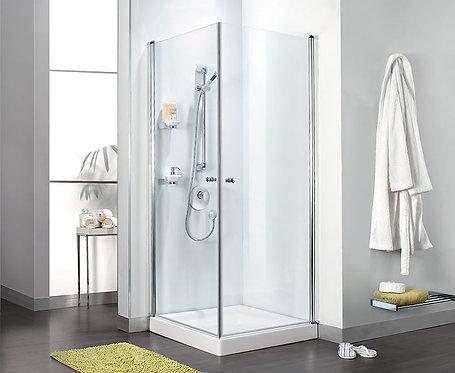 """מקלחון פינתי 2 דלתות 6 מ""""מ"""