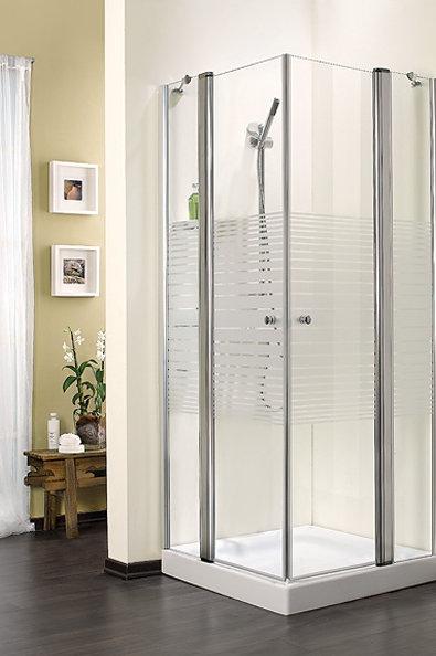 מקלחון פינתי מחולק 2 קבועים 2 דלתות