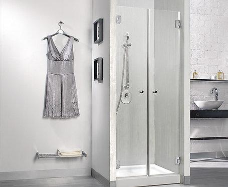 """מקלחון חזית 2 דלתות 8 מ""""מ רוחב 90"""