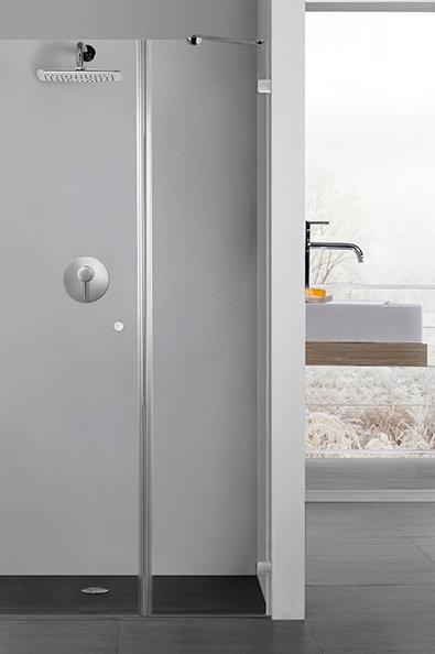 """מקלחון חזית (ליאל)  8 מ""""מ קבוע ודלת"""