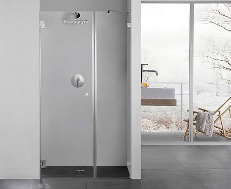 """מקלחון חזית 8 מ""""מ קבוע ודלת"""