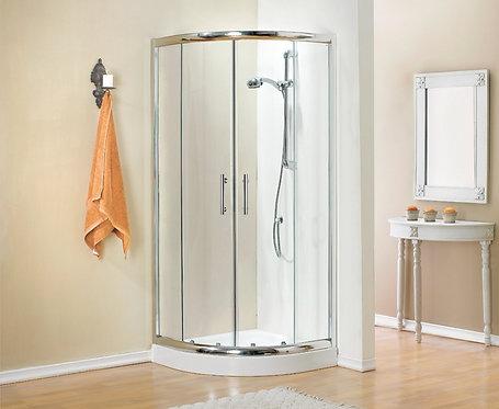 מקלחון הזזה מעוגל 2 קבועים 2 דלתות
