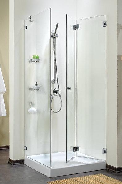 """מקלחון פינתי (דניאל 3) 8 מ""""מ דלת מתקפלת וקבוע"""