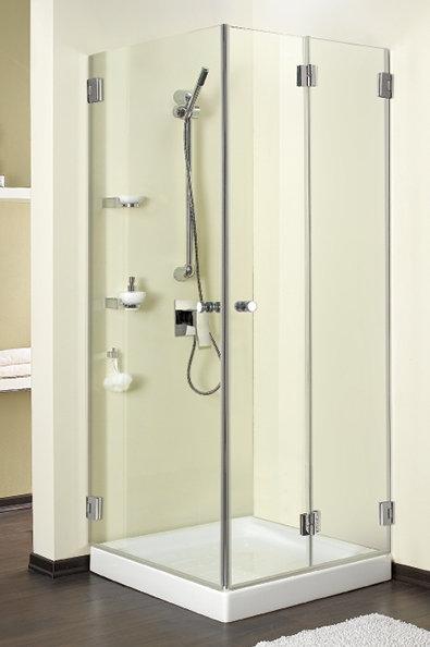 """מקלחון פינתי (דניאל 4) 8 מ""""מ דלת מתקפלת ודלת"""