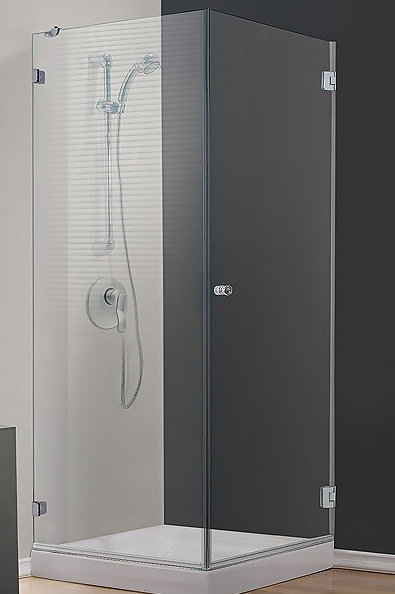 מקלחון פינתי קבוע ודלת - בייצור