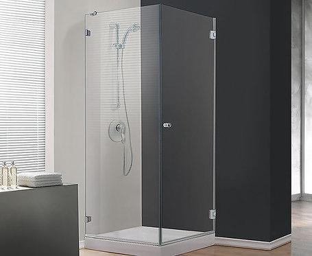 """מקלחון פינתי 8 מ""""מ קבוע ודלת"""