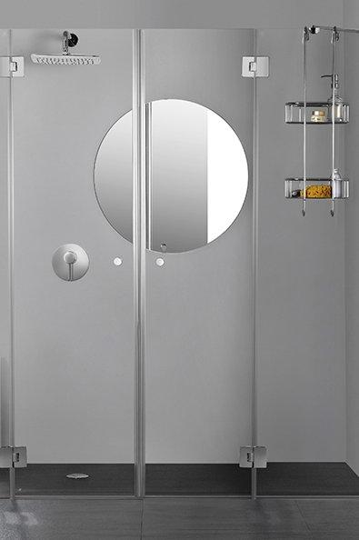 """מקלחון חזית 8 מ""""מ 2 קבועים 2 דלתות"""