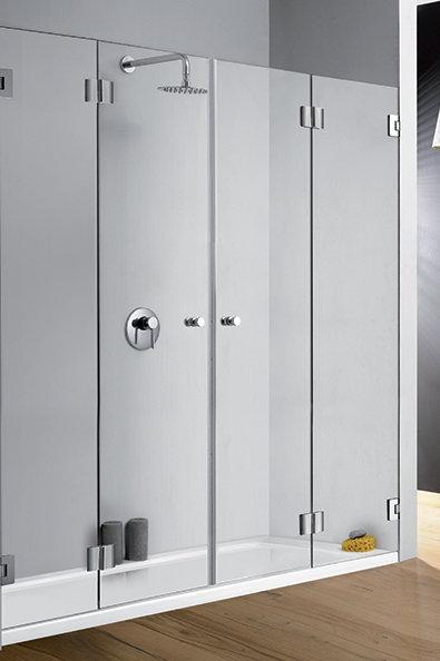 """מקלחון חזית 8 מ""""מ 2 דלתות מתקפלות"""