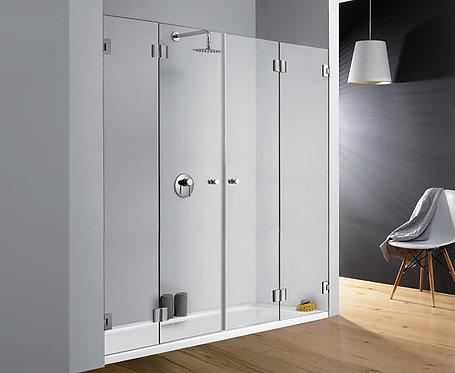 """מקלחון חזית (דניאל)  8 מ""""מ 2 דלתות מתקפלות"""