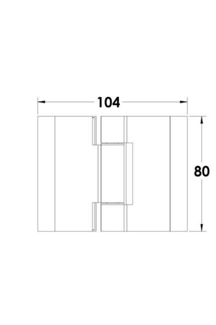 """ציר זכוכית-זכוכית למקלחון הרמוניקה  8 מ""""מ"""