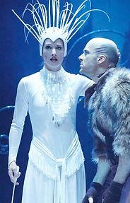 Kate Tydman as Jadis & Tomm Coles as Maugrim