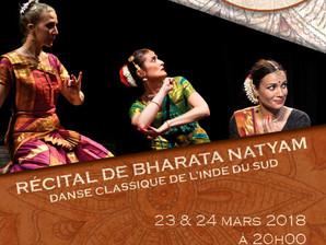 23 et 24 mars 2018 : récital de Bharata Natyam par la compagnie des Nataka à Aix-en-Provence