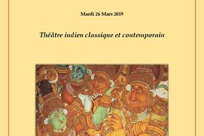 A l'occasion de la journée sur le théâtre indien à l'université d'Aix-Marseille mardi 26
