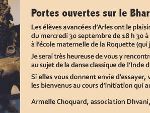 """Soirée """"portes ouvertes"""" à Arles 30 septembre 2015"""