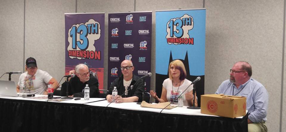 L to R: Keith Larsen, Paul Kupperberg, Mort Todd, Jackie Zbuska, Karl Wildman. (picture courtesy of Mark Holmes)
