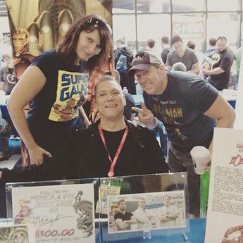 Jackie Zbuska & Keith Larsen with Bob Layton afer the Charlton Comics panel