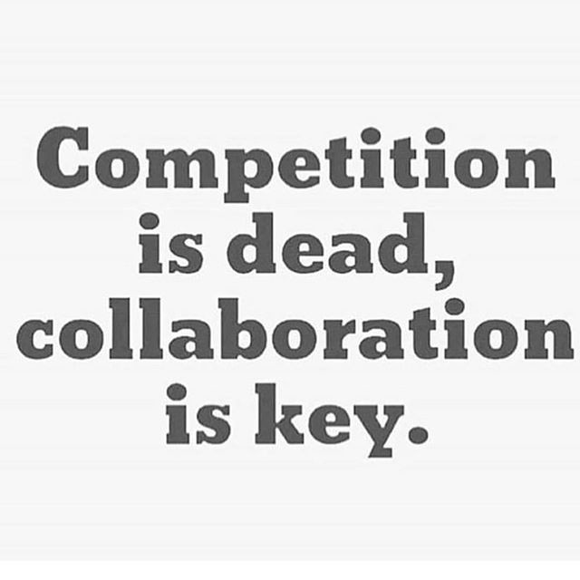 Truth! Why compete when we can come toge
