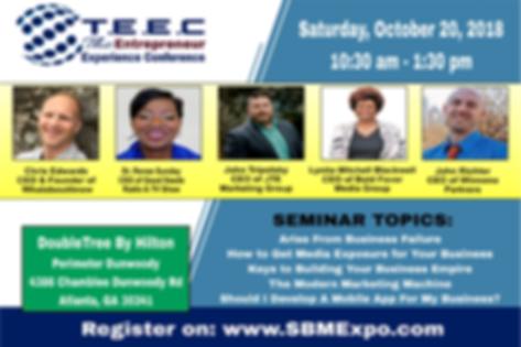 2018 The Entreprenur Experience Conference Atlanta Presenters