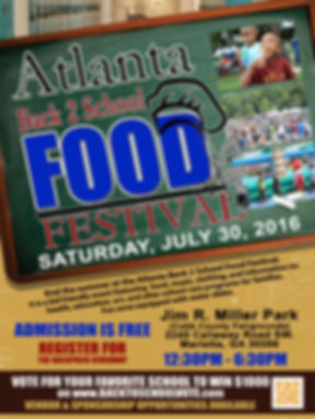 Atlanta Back to School Food Festival Flyer