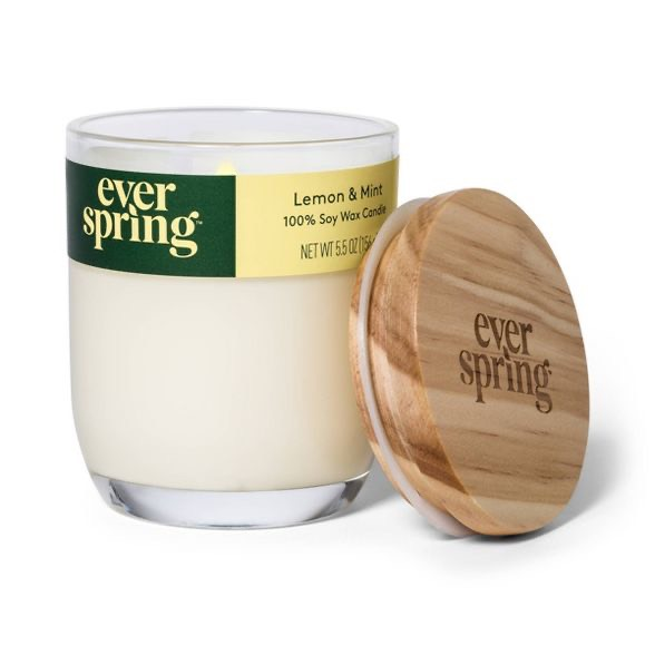 Lemon & Mint 100% Soy Wax Candle - Everspring™ Link to Target Page