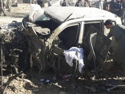 A car bomb in Afghanistan has killed at least 30 members of the security forces