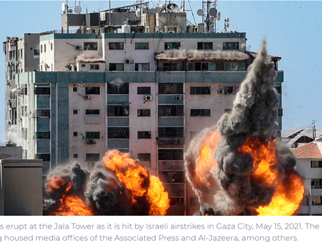Washington received further information about Israel's destruction of a Gaza high-rise
