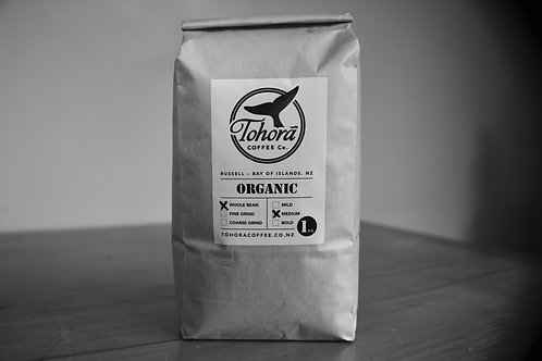 Tohorā Coffee 1kg bag