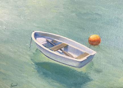 """Bermuda Rowboat"" (Private Collection) OIL 9 x 12"