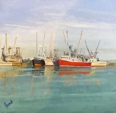 """Fishing Boats-Darien, GA"" OIL (10 x 10)"