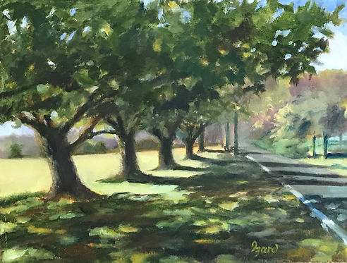 """Shipley's Front Yard"" OIL (9 x 12) - Private Collection"