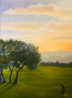 """Sunrise at Barton Creek"" OIL (18 x 24)"