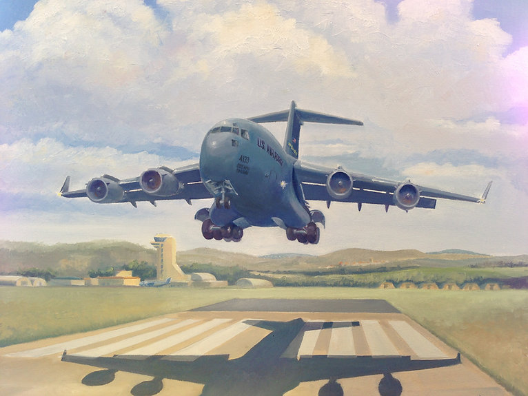 """C-17"" OIL (28 X 36) - Private Collection"